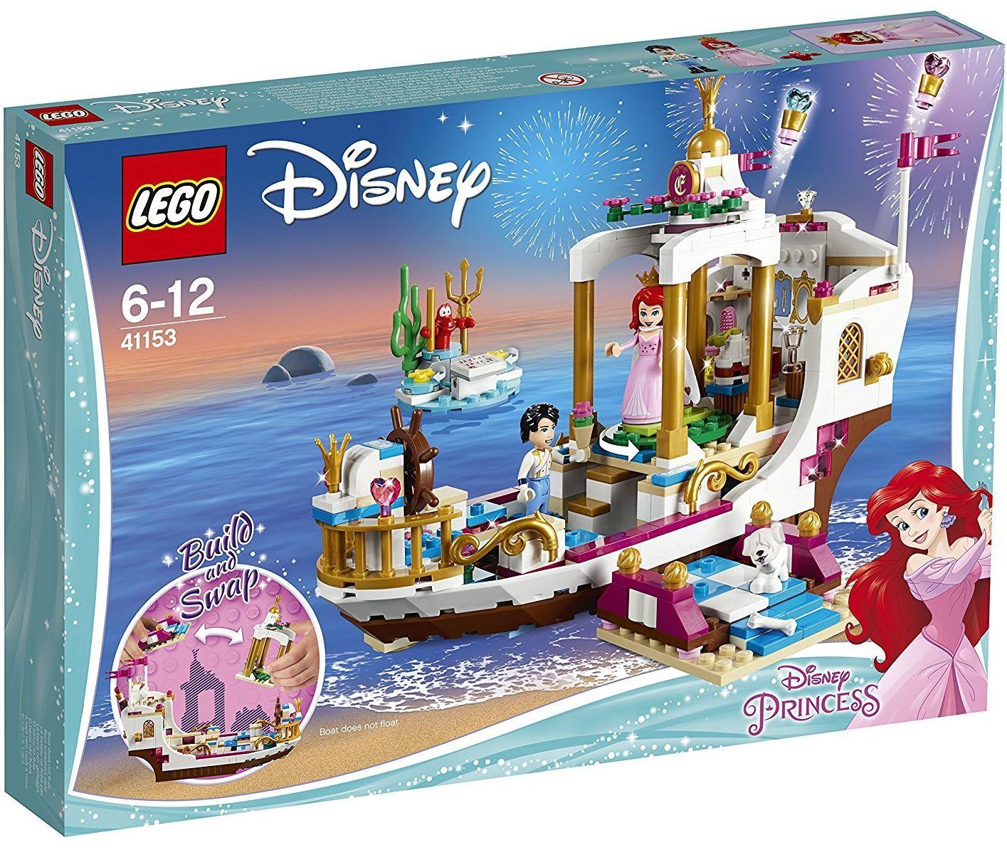 Конструктор Lego Disney Princess - Кралската лодка за празненства на Ариел (41153) - 1