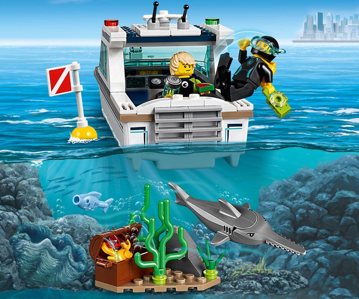 Конструктор Lego City - Яхта за гмуркане (60221) - 3