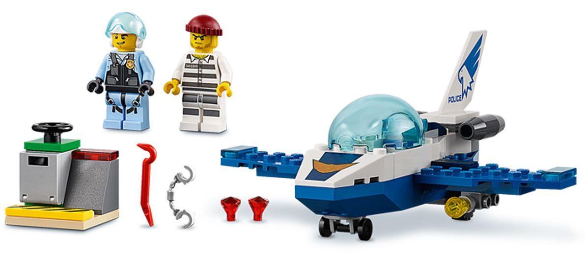 Конструктор Lego City - Полиция в небето, реактивен патрул (60206) - 7