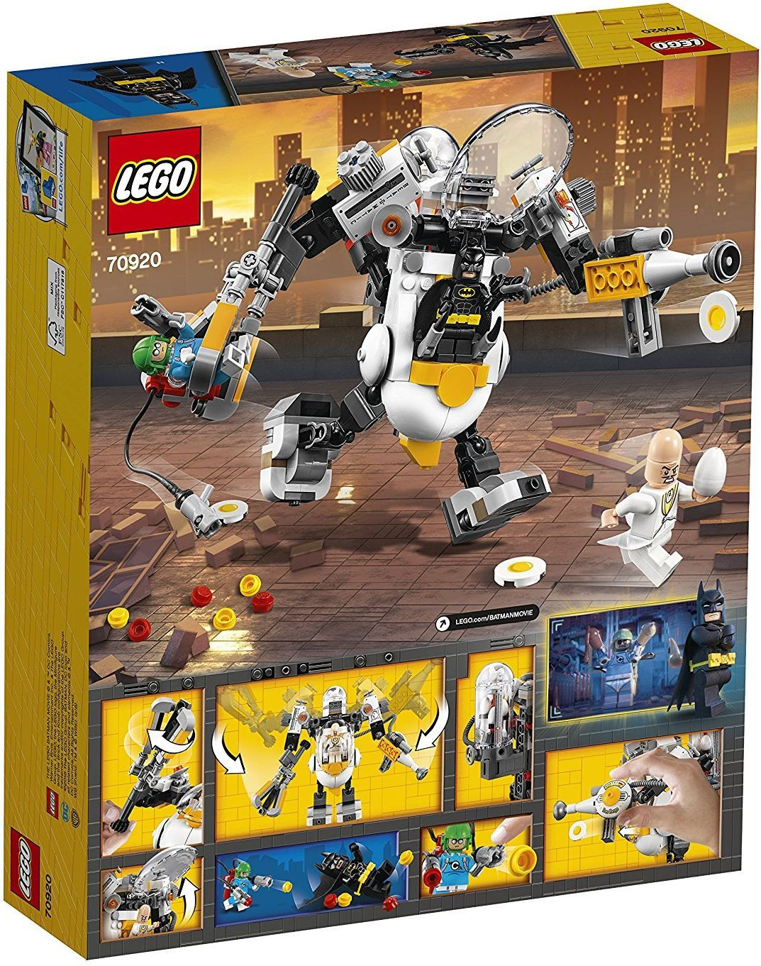 Конструктор Lego Batman Movie - Бой с храна с робота на Яйцето (70920) - 5