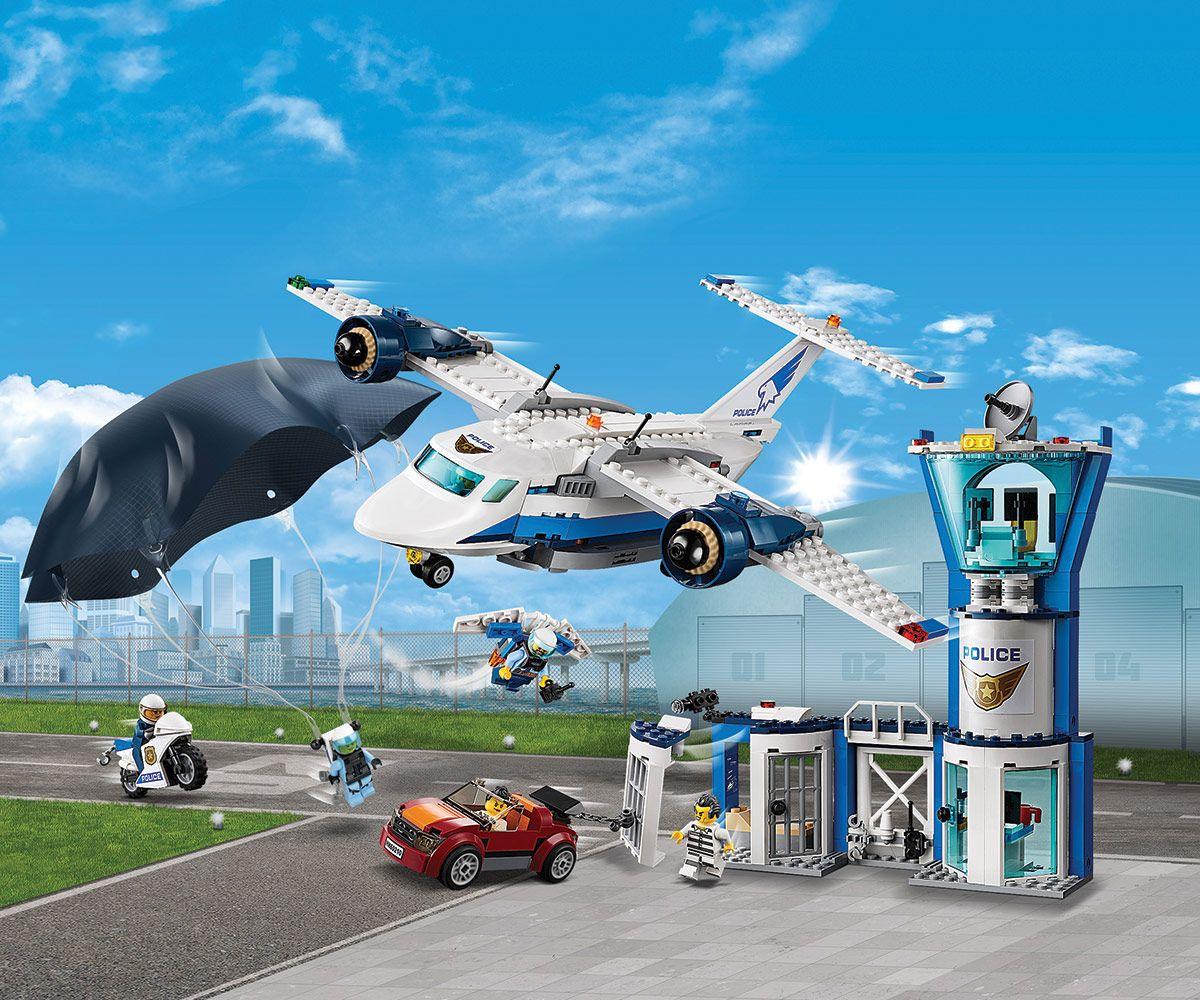 Конструктор Lego City - Полиция в небето, въздушна база (60210) - 7