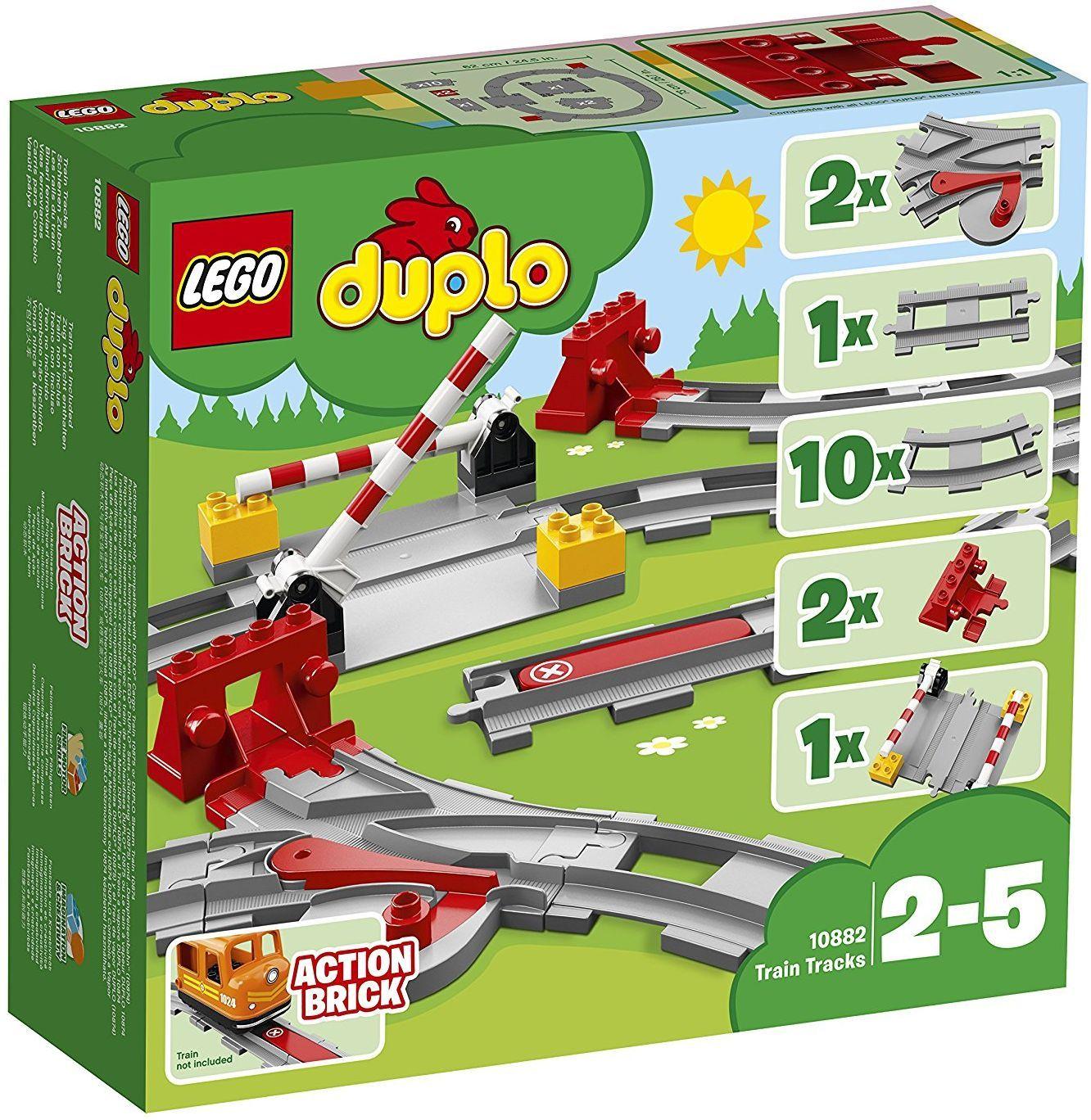 Конструктор Lego Duplo - Релси за влак (10882) - 1