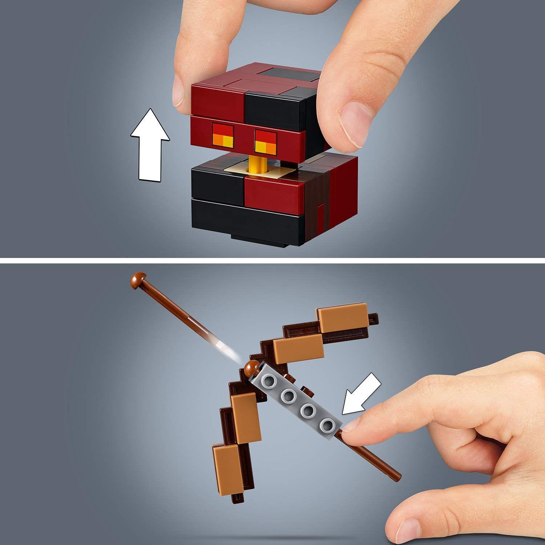 Конструктор Lego Minecraft - Голяма фигурка скелет с куб от магма (21150) - 8
