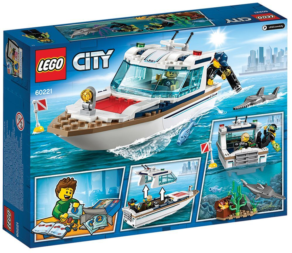 Конструктор Lego City - Яхта за гмуркане (60221) - 7