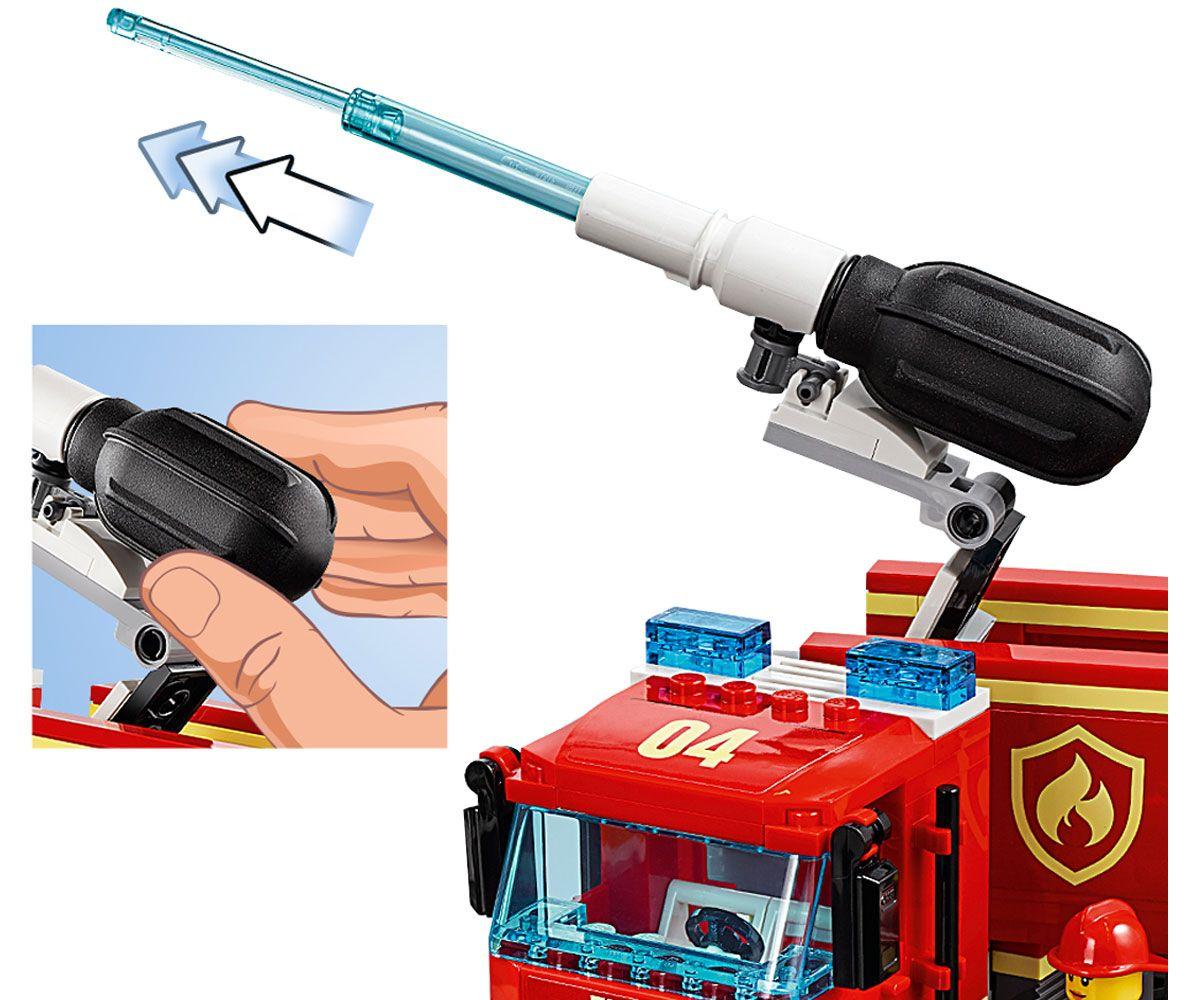 Конструктор Lego City - Спасителна акция от пожар в бургер бар (60214) - 12