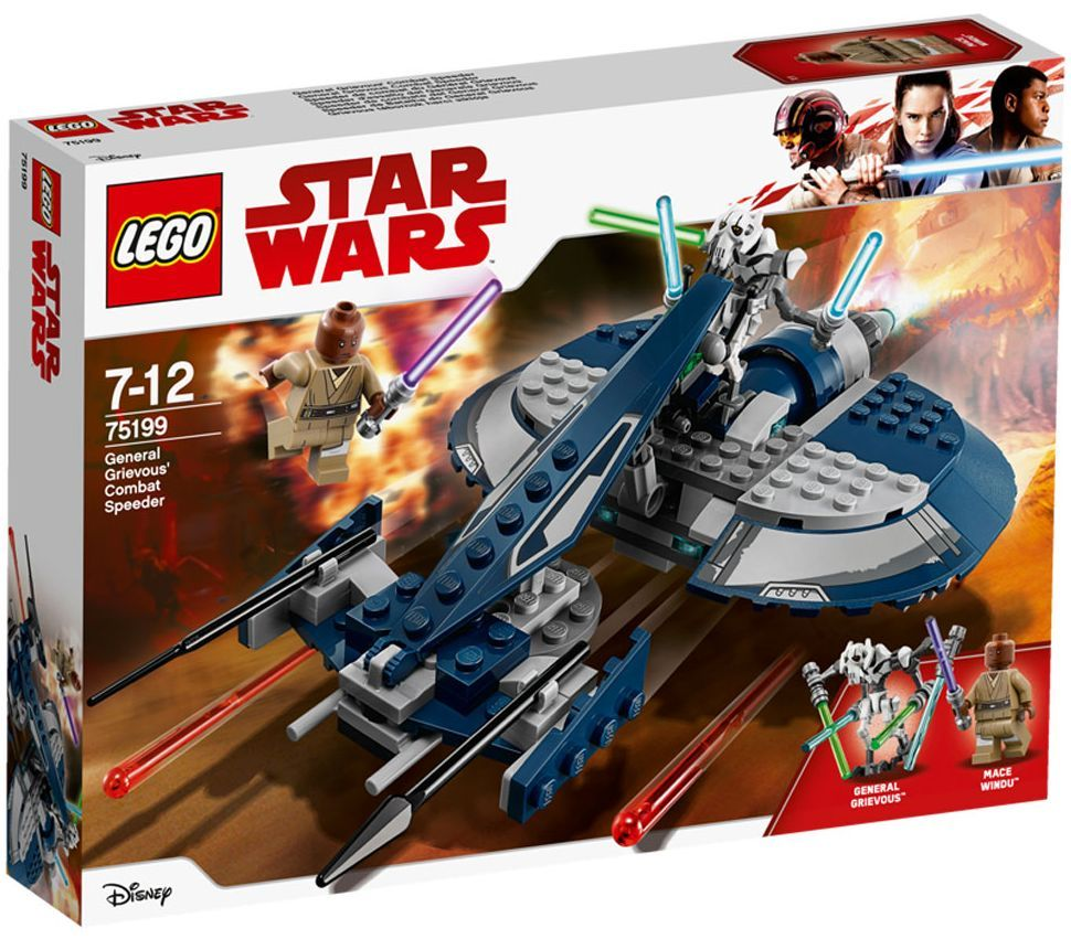 Конструктор Lego Star Wars - Бойният скутер на General Grievous (75199) - 1
