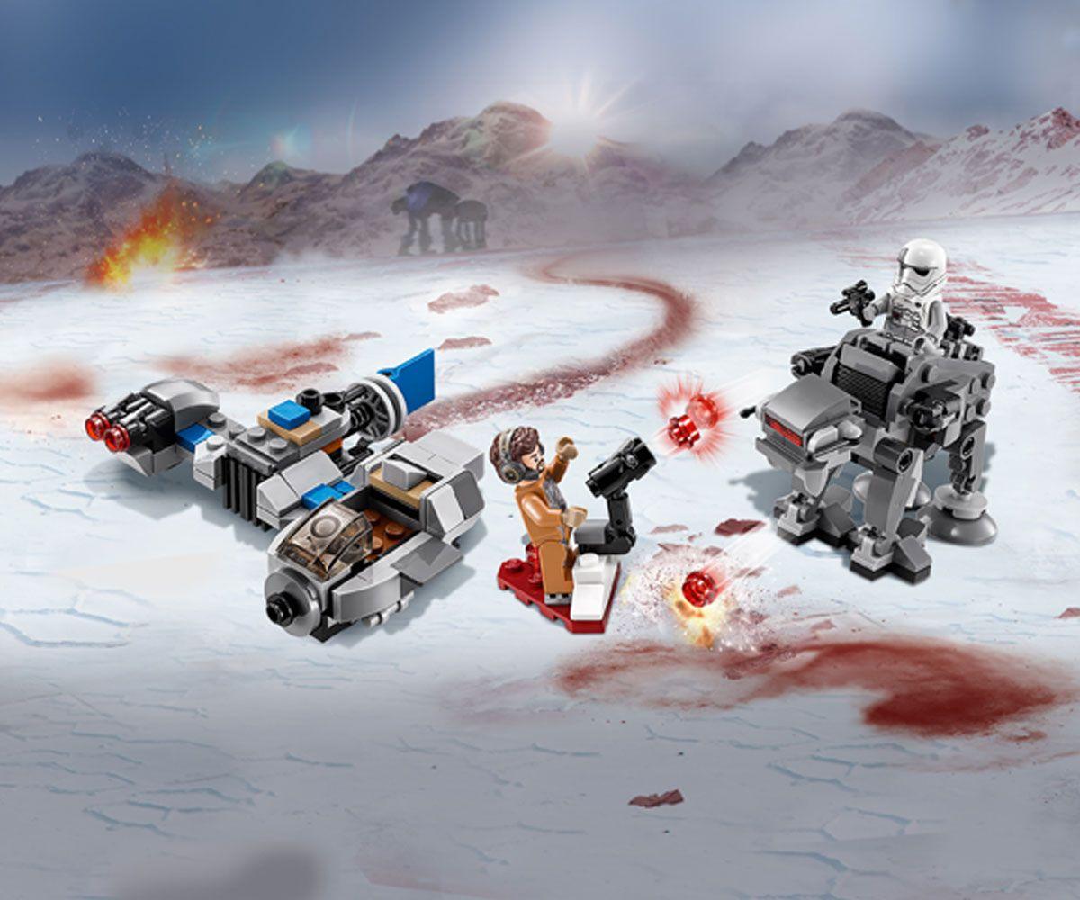 Конструктор Lego Star Wars - Ski Speeder™ vs. First Order Walker™ Microfighter (75195) - 9