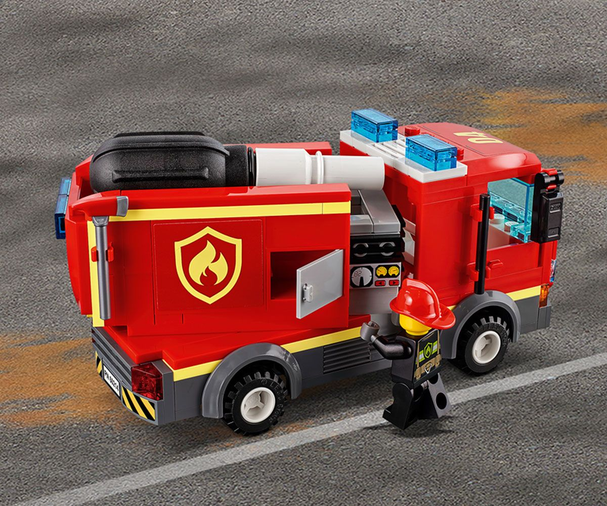 Конструктор Lego City - Спасителна акция от пожар в бургер бар (60214) - 14