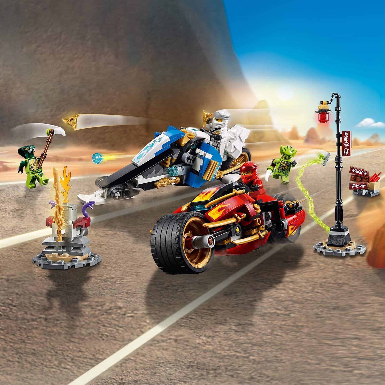 Конструктор Lego Ninjago - Мотоциклетът на Kai и снегомобилът на Zane (70667) - 7