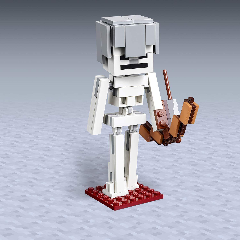 Конструктор Lego Minecraft - Голяма фигурка скелет с куб от магма (21150) - 3