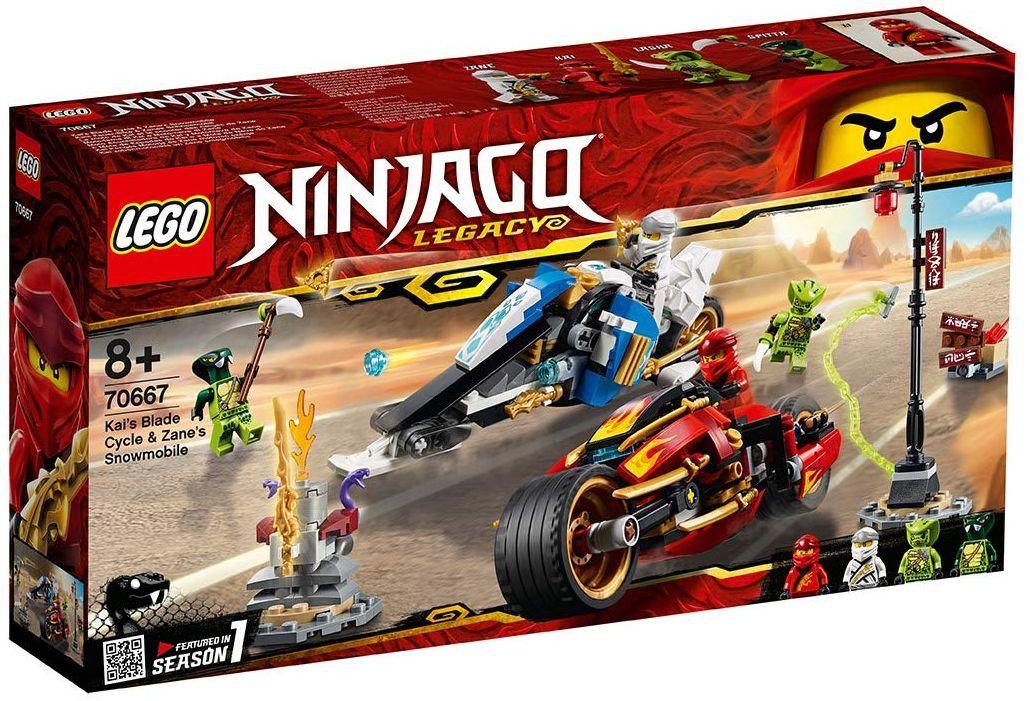 Конструктор Lego Ninjago - Мотоциклетът на Kai и снегомобилът на Zane (70667) - 9