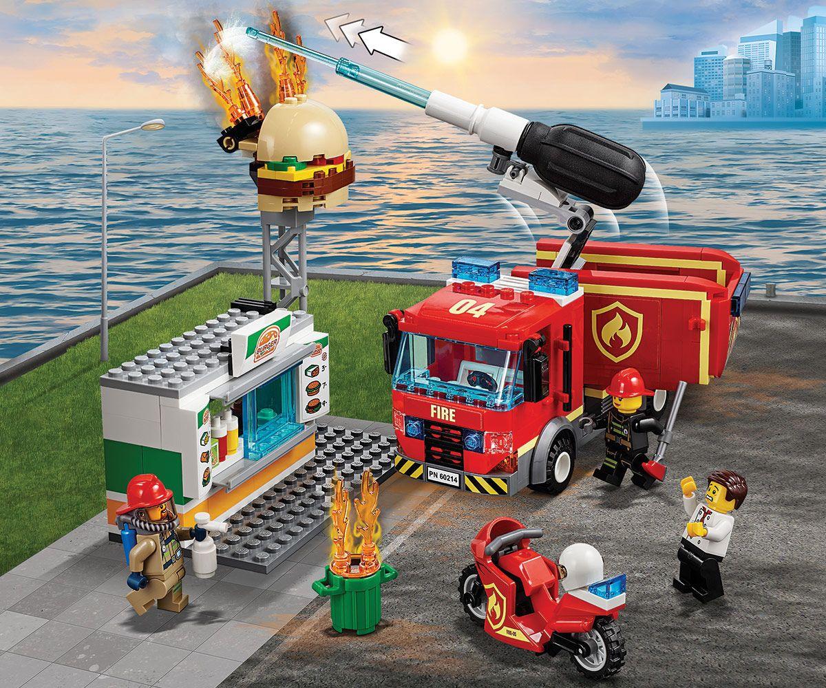 Конструктор Lego City - Спасителна акция от пожар в бургер бар (60214) - 3