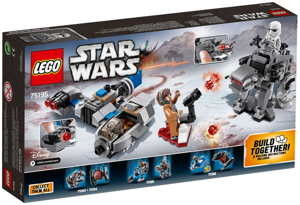 Конструктор Lego Star Wars - Ski Speeder™ vs. First Order Walker™ Microfighter (75195) - 3