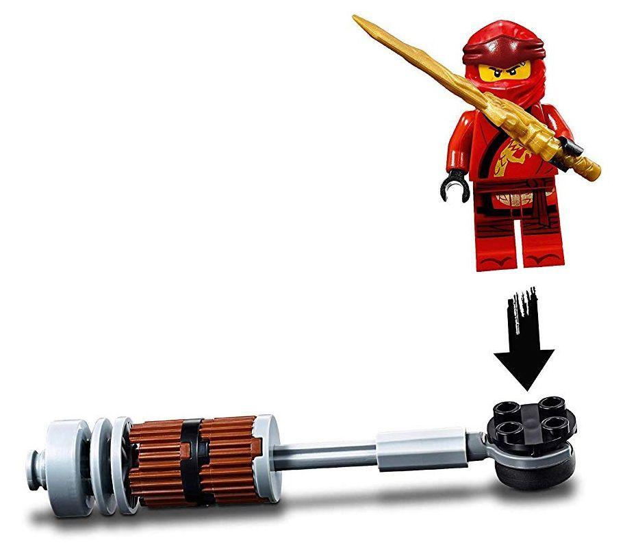 Конструктор Lego Ninjago - Мотоциклетът на Kai и снегомобилът на Zane (70667) - 1