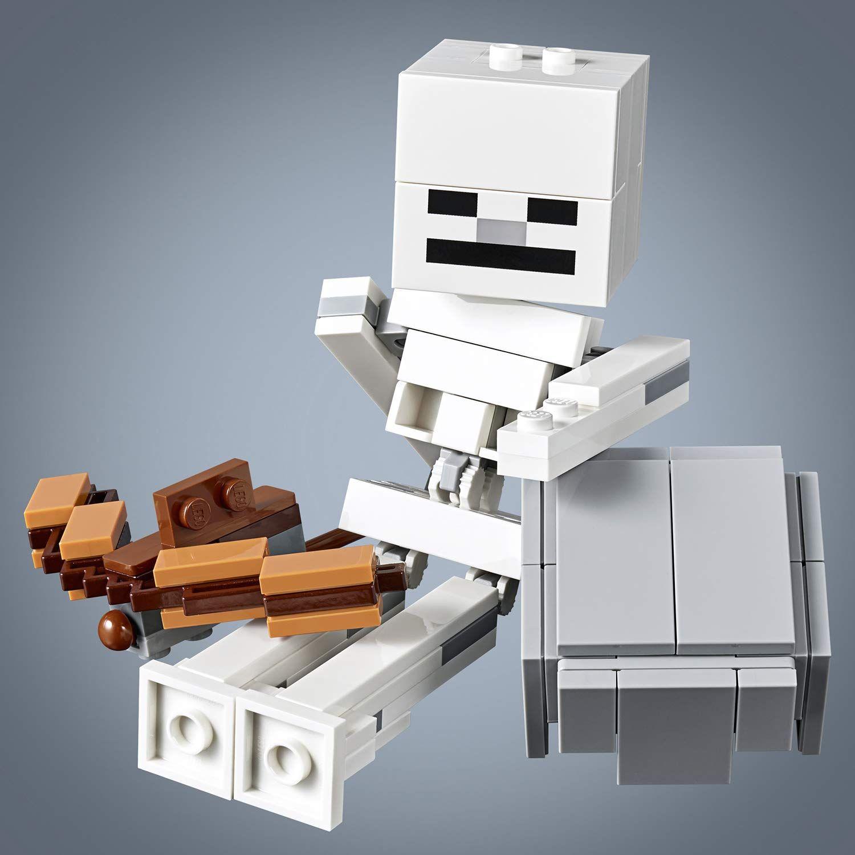 Конструктор Lego Minecraft - Голяма фигурка скелет с куб от магма (21150) - 1