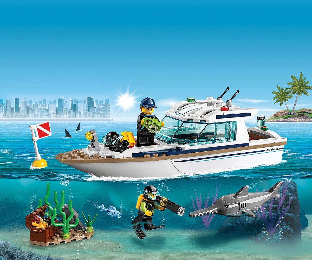 Конструктор Lego City - Яхта за гмуркане (60221) - 5