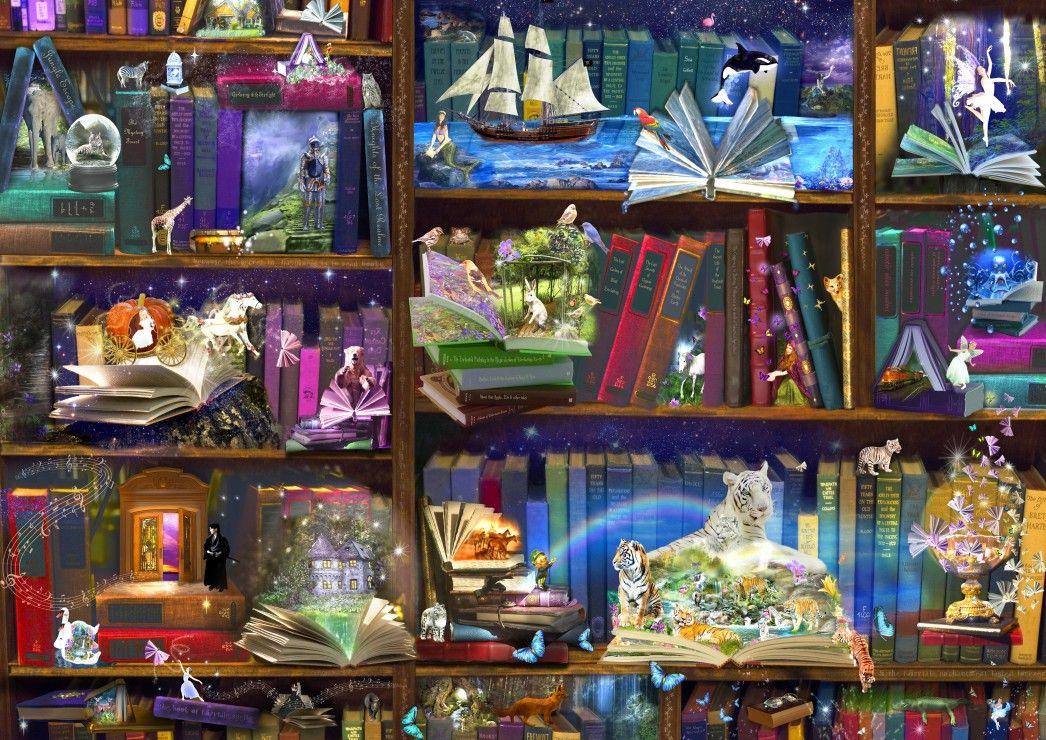 Пъзел Bluebird от 3000 части - Библиотечни приключения в четенето - 1