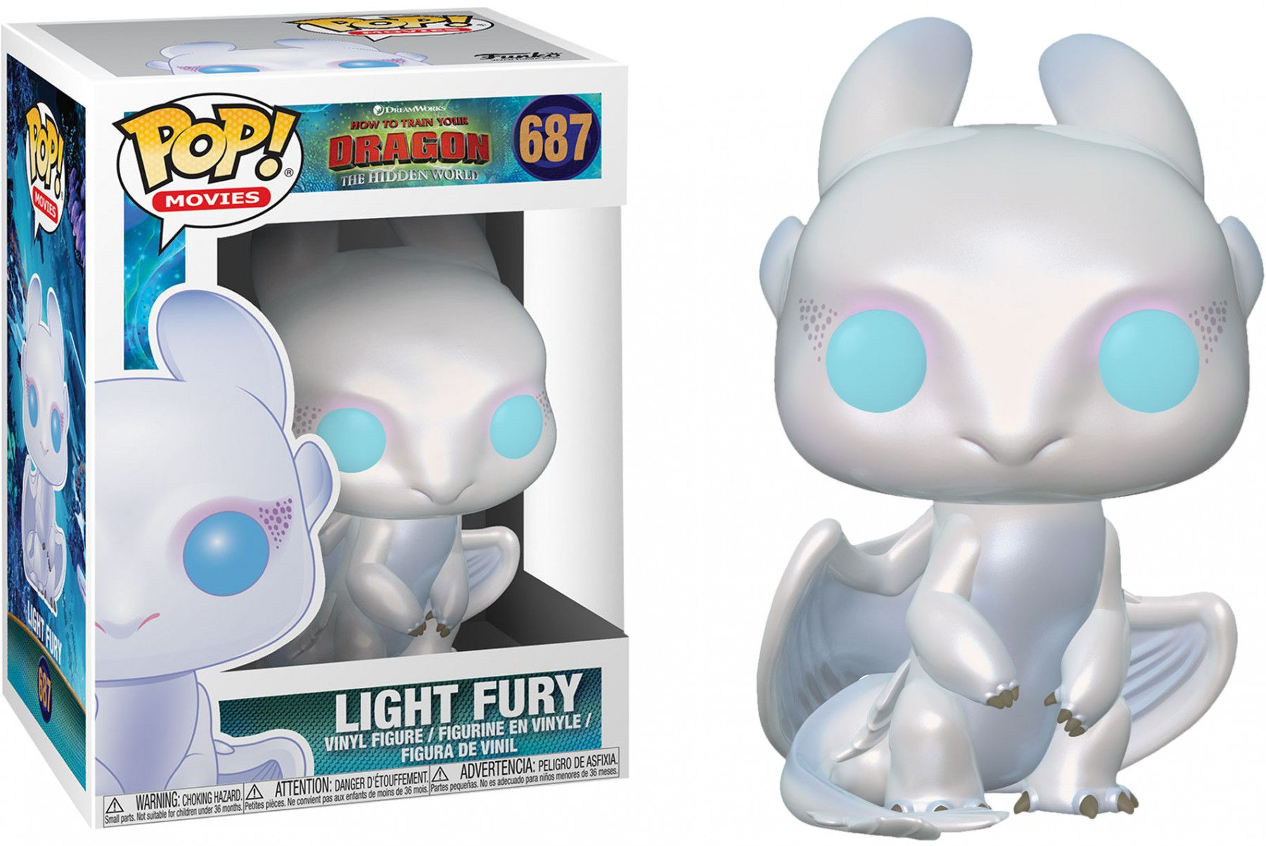 Фигура Funko Pop! How to Train Your Dragon 3 - Light Fury, #687 - 2