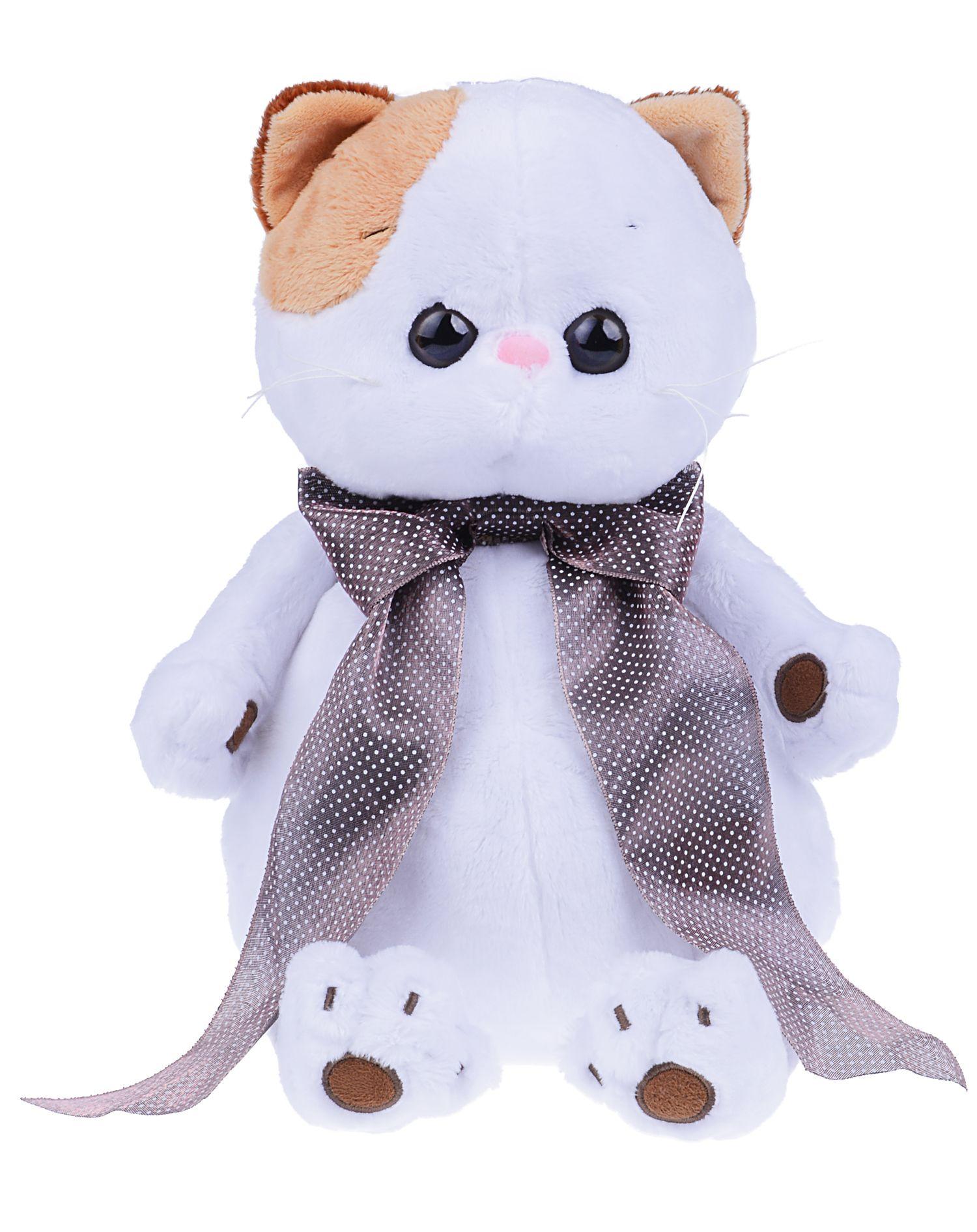 Плюшена играчка Budi Basa - Коте Ли-Ли, с копринена панделка, 25 cm - 1