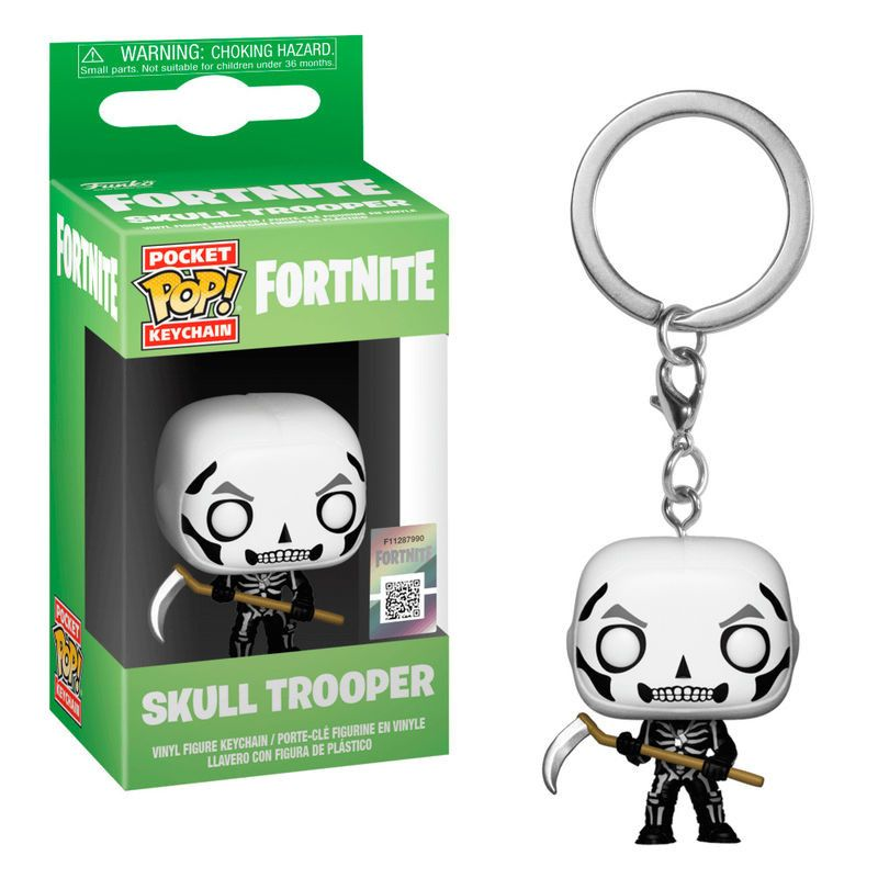 Ключодържател Funko Pocket Pop! Fortnite - Skull Trooper - 2