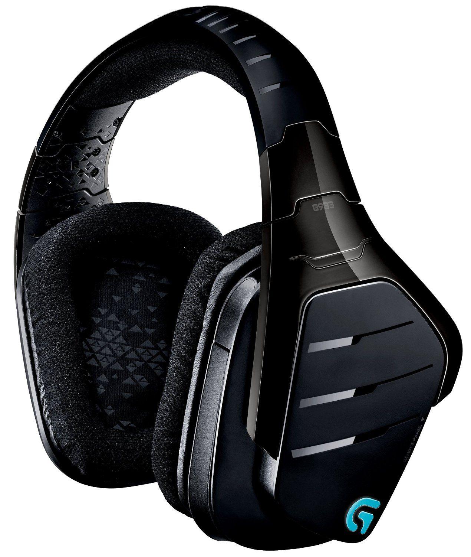 Гейминг слушалки Logitech G933 Artemis Spectrum - 7.1 Surround, безжични, черни - 4