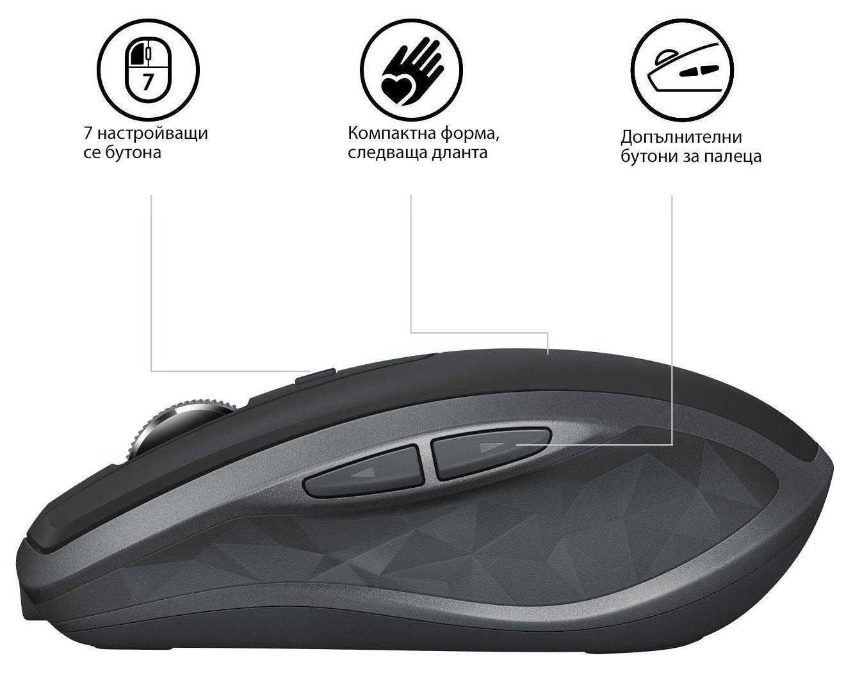 Безжична мишка Logitech MX Anywhere 2S, Graphite - 5