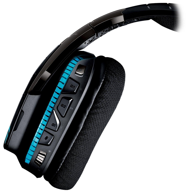 Гейминг слушалки Logitech G933 Artemis Spectrum - 7.1 Surround, безжични, черни - 3