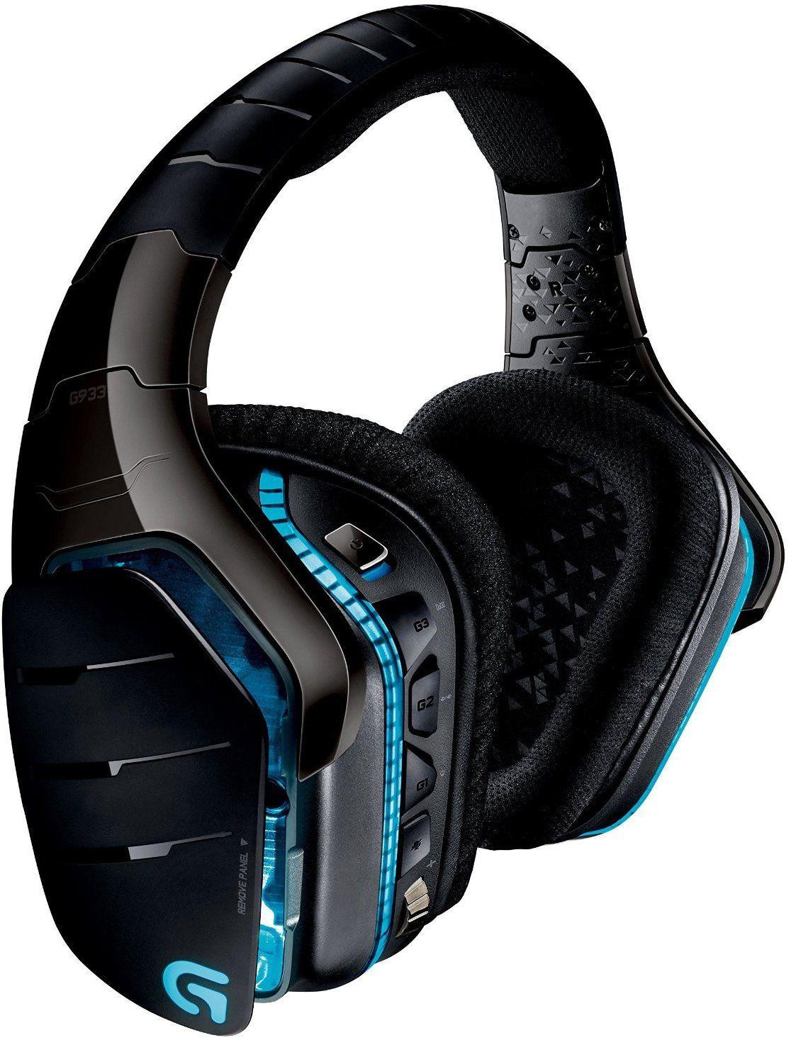Гейминг слушалки Logitech G933 Artemis Spectrum - 7.1 Surround, безжични, черни - 1