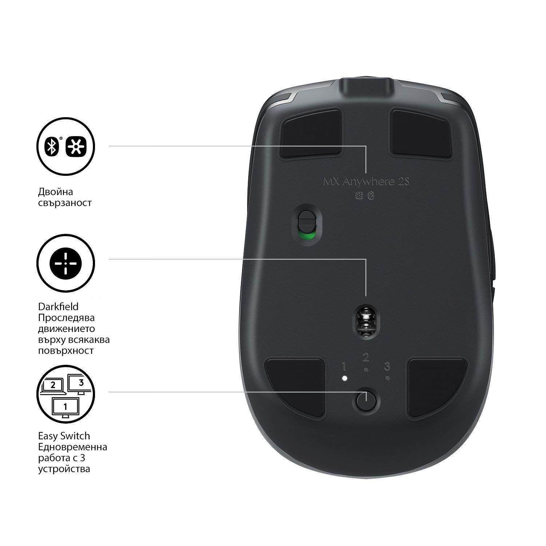 Безжична мишка Logitech MX Anywhere 2S, Graphite - 6