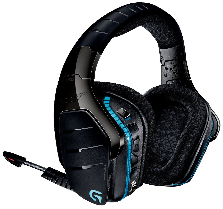 Гейминг слушалки Logitech G933 Artemis Spectrum - 7.1 Surround, безжични, черни - 6