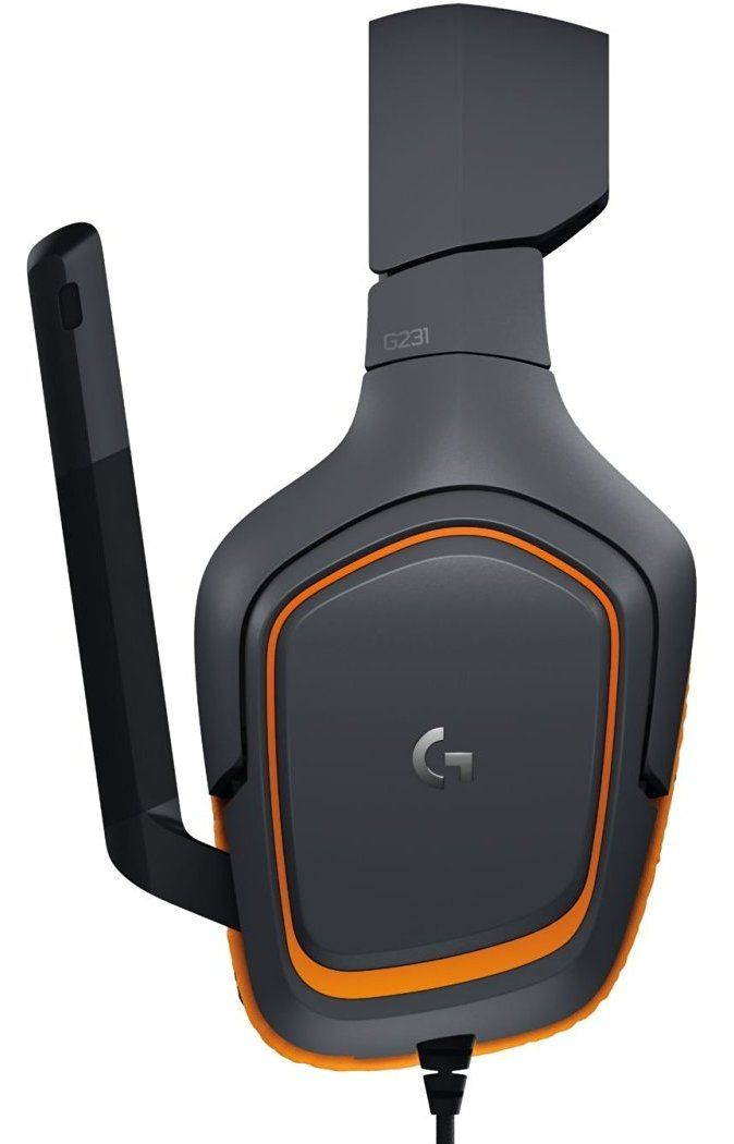 Гейминг слушалки Logitech G231 Prodigy - черни/оранжеви - 4