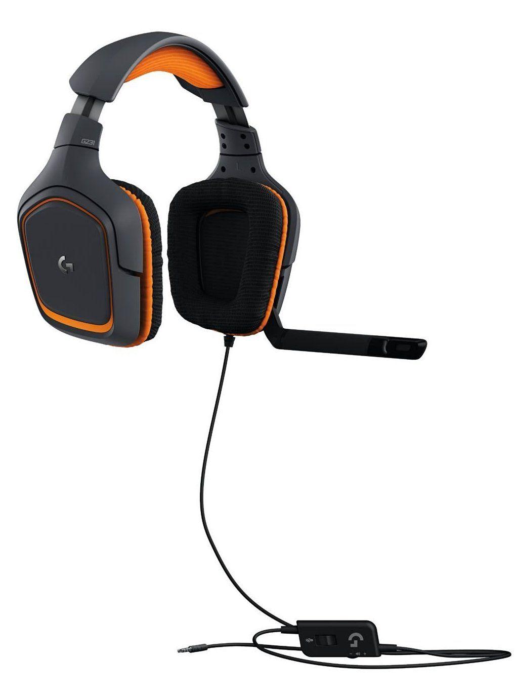 Гейминг слушалки Logitech G231 Prodigy - черни/оранжеви - 3