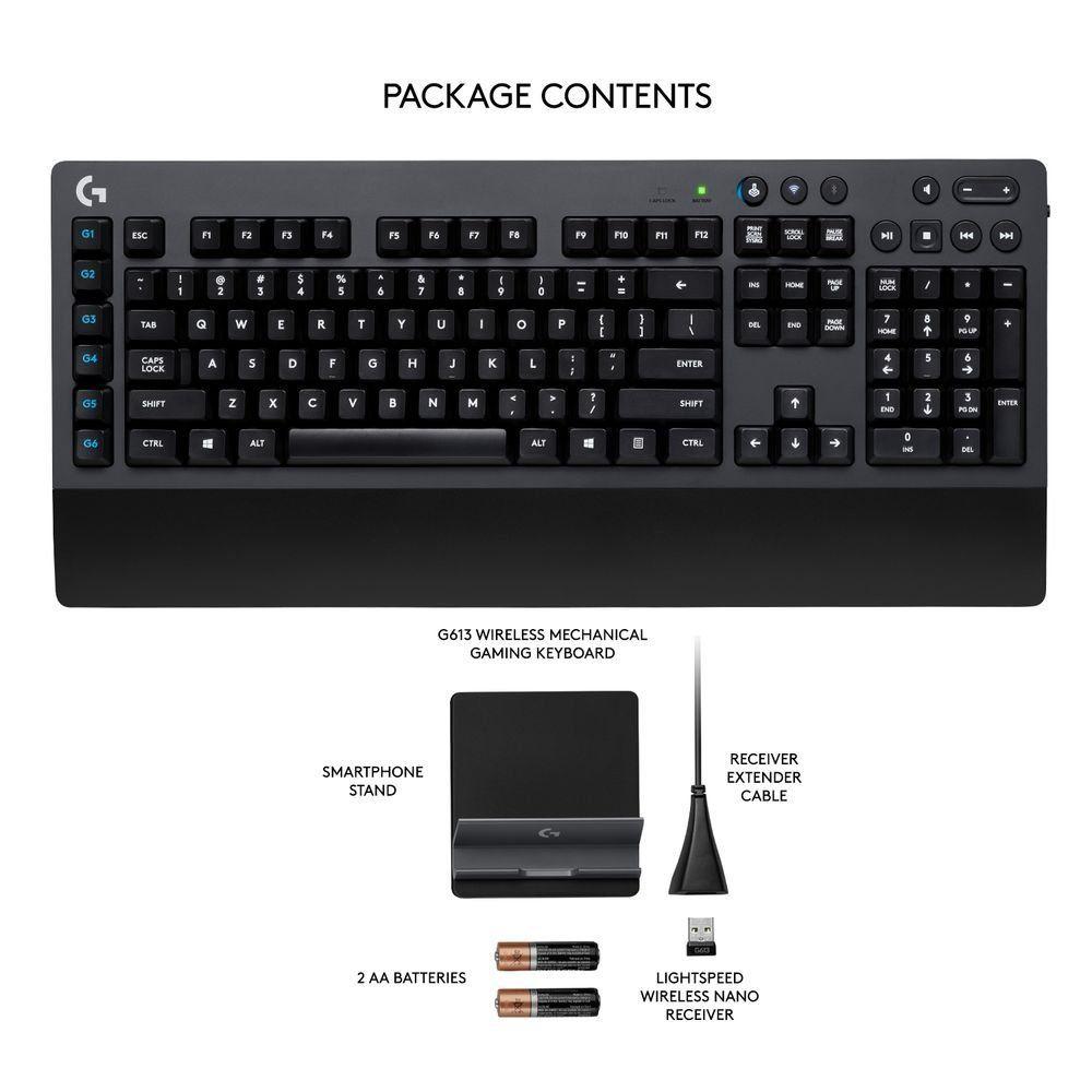 Механична клавиатура Logitech G613 - Romer-G суичове, безжична - 4