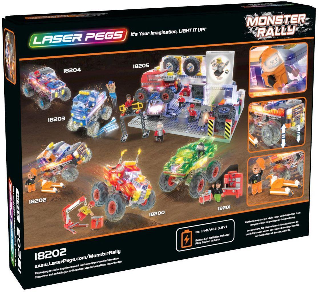 Светещ конструктор Laser Pegs Monster Rally - Саботьор - 3