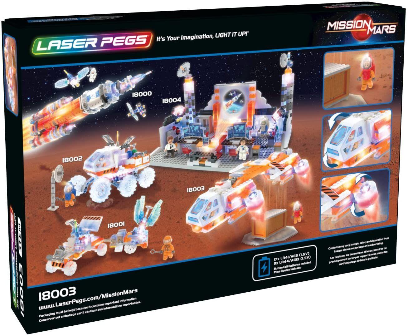 Светещ конструктор Laser Pegs Mission Mars - Совалка - 3