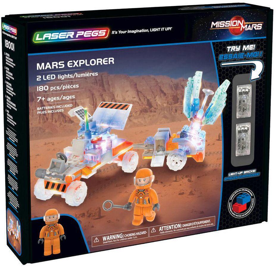 Светещ конструктор Laser Pegs Mission Mars - Експедиция на Марс - 1