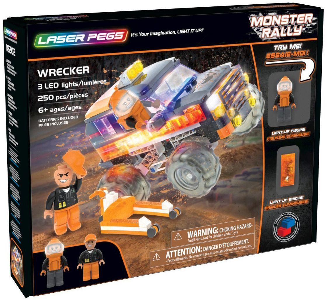 Светещ конструктор Laser Pegs Monster Rally - Саботьор - 1