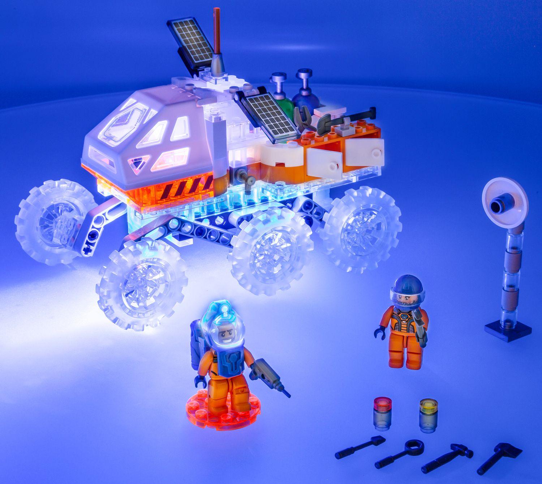 Светещ конструктор Laser Pegs Mission Mars - Марсоход - 6