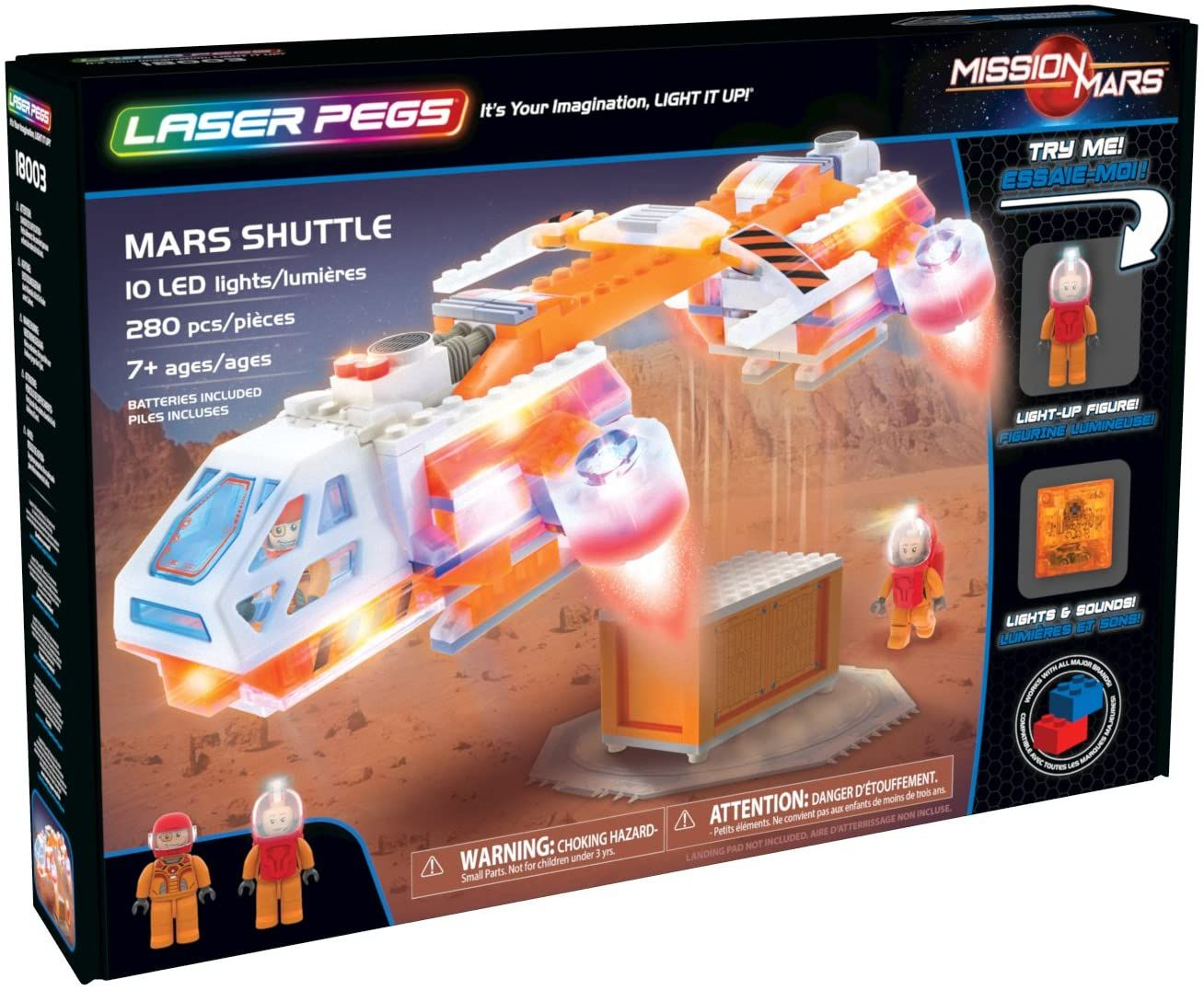 Светещ конструктор Laser Pegs Mission Mars - Совалка - 1