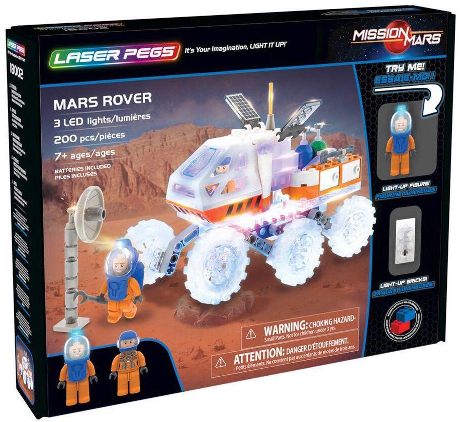 Светещ конструктор Laser Pegs Mission Mars - Марсоход - 1