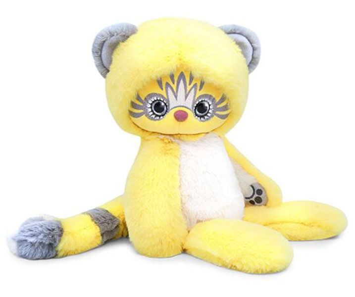 Плюшена играчка Budi Basa Lori Colori  - Ейка, в жълт цвят, 30 cm - 1