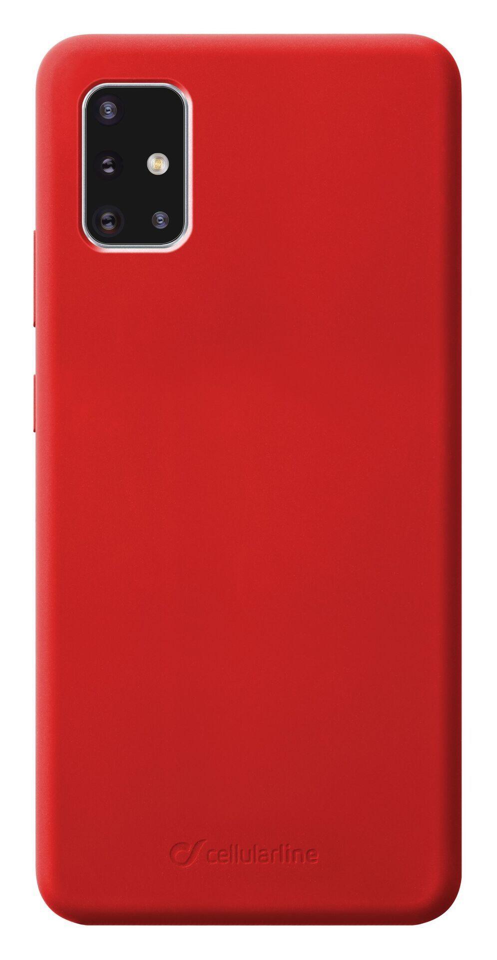 Калъф за Samsung Galaxy A51 Cellularline - Sensation, червен - 1