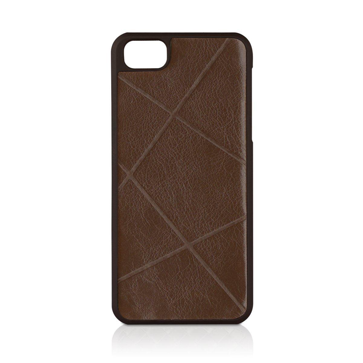 Macally Weave за iPhone 5 -  кафяв - 1