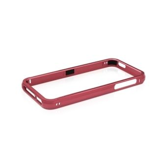 Macally Aluminium Frame за iPhone 5 -  червен - 1