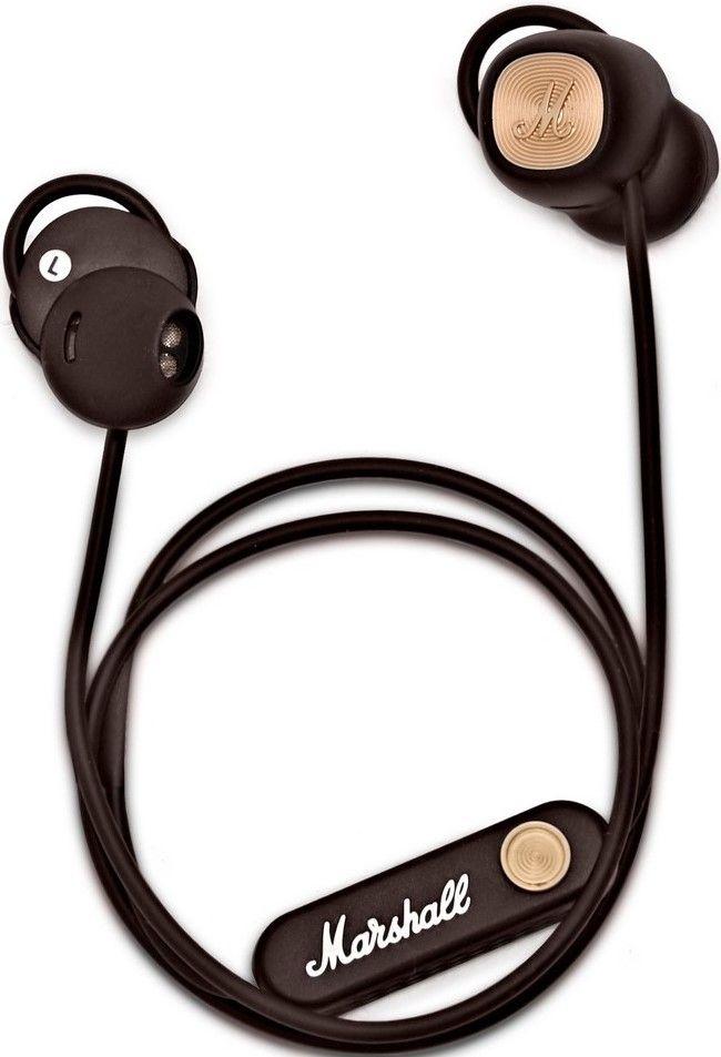 Слушалки с микрофон Marshall Minor II - безжични, кафяви - 1