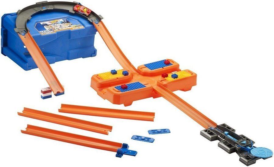 Игрален комплект писта Hot Wheels от Mattel – С количка и тухлички - 3