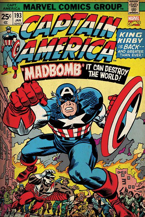 Макси плакат Pyramid - Marvel Retro (Captain America - Madbomb) - 1