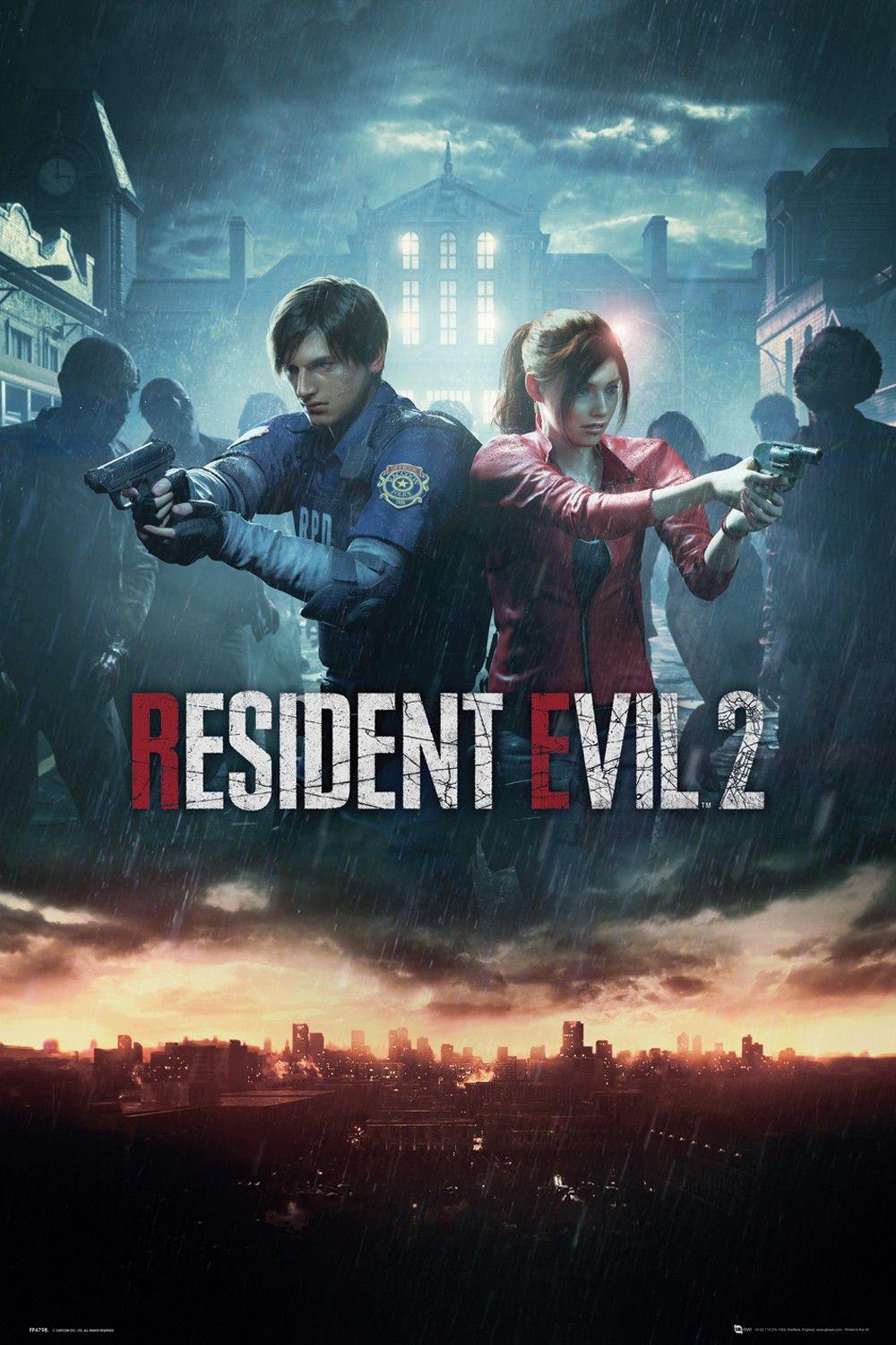 Макси плакат GB Eye Resident Evil 2 - City Key Art - 1