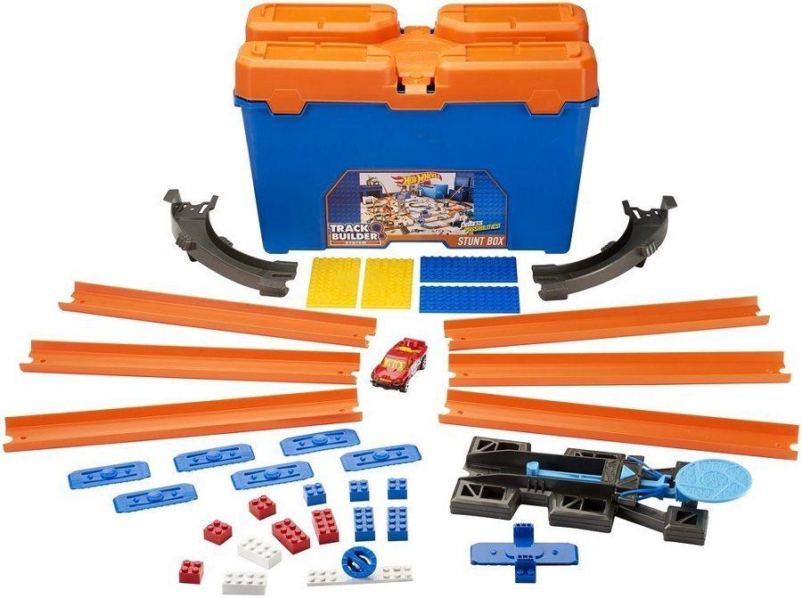 Игрален комплект писта Hot Wheels от Mattel – С количка и тухлички - 4