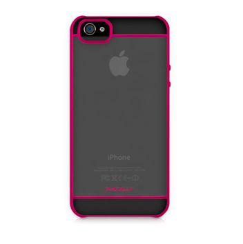 Macally See-Thru Hard Shell Case за iPhone 5 - розов - 1
